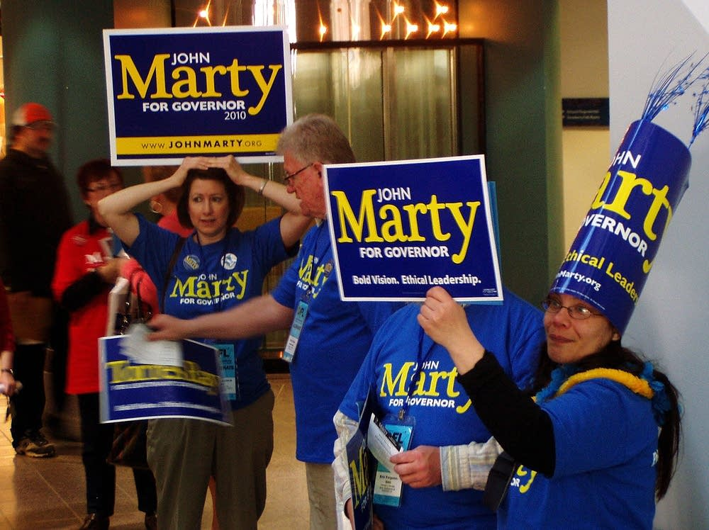 John Marty supporters