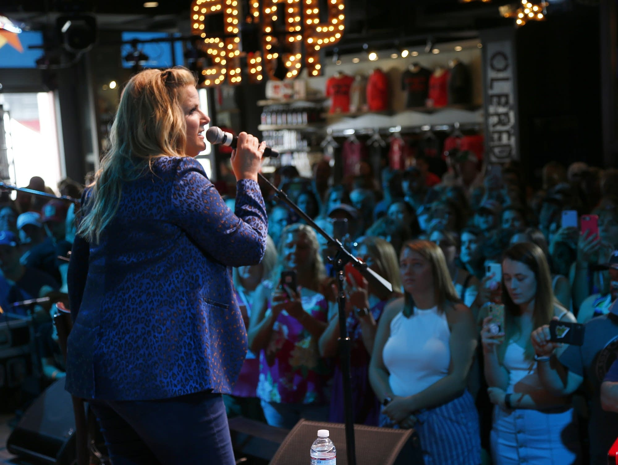 Trisha Yearwood performs on stage at Spotify House