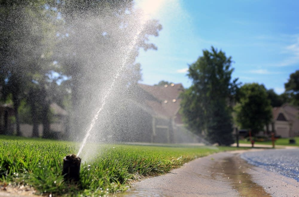 Watering an Andover lawn