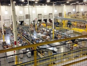 Amazon distribution center in California.