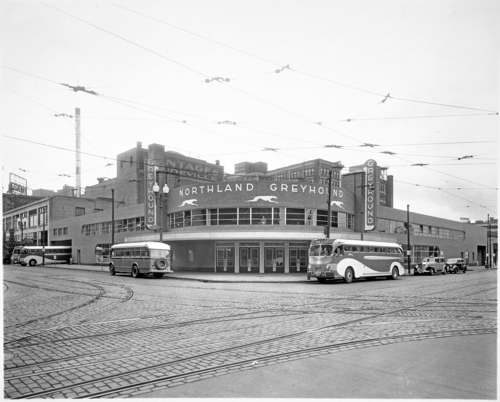 The Greyhound station in downtown Minneapolis that became First Ave.