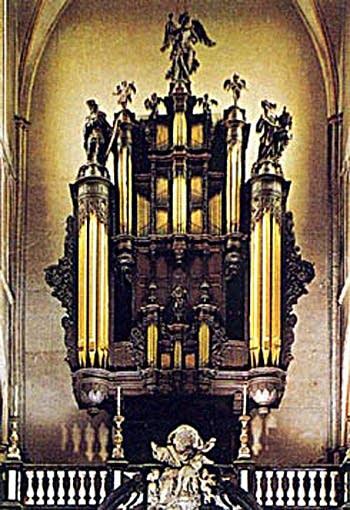 1986 Loncke organ at St. Salvadore's Cathedral, Bruges, Belgium