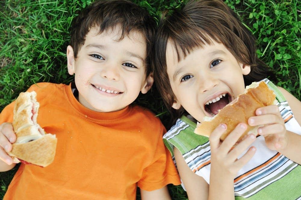 kids, sandwiches