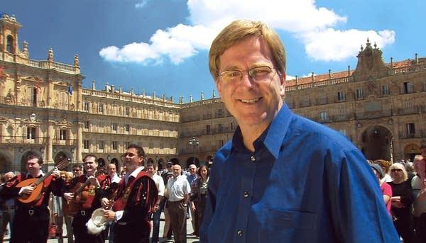 Rick Steves in Salamanca, Spain