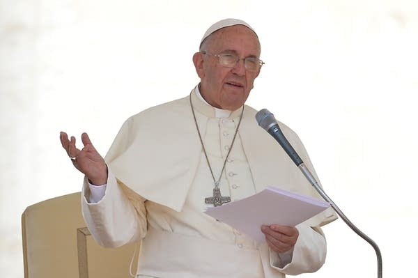 Pope Francis Wednesday at the Vatican