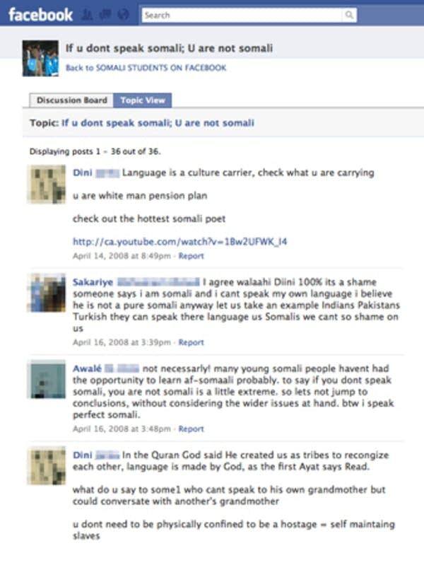 Somali Facebook page