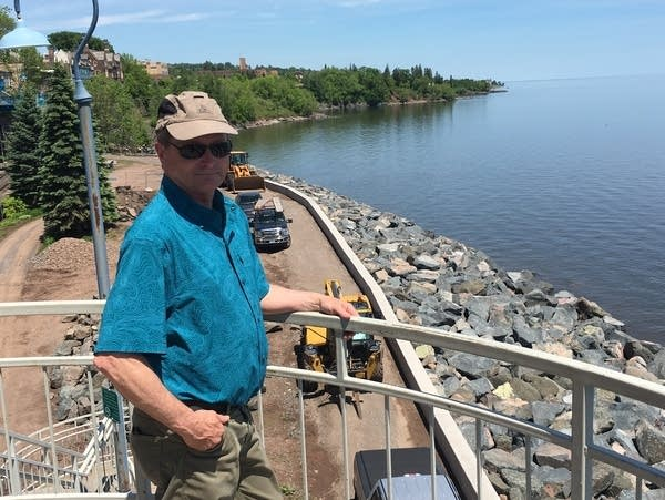 City of Duluth construction project supervisor Mike LeBeau.