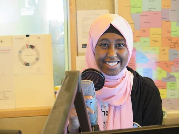 Radio Camp reporter Safiya Mohamed poses for a photo.