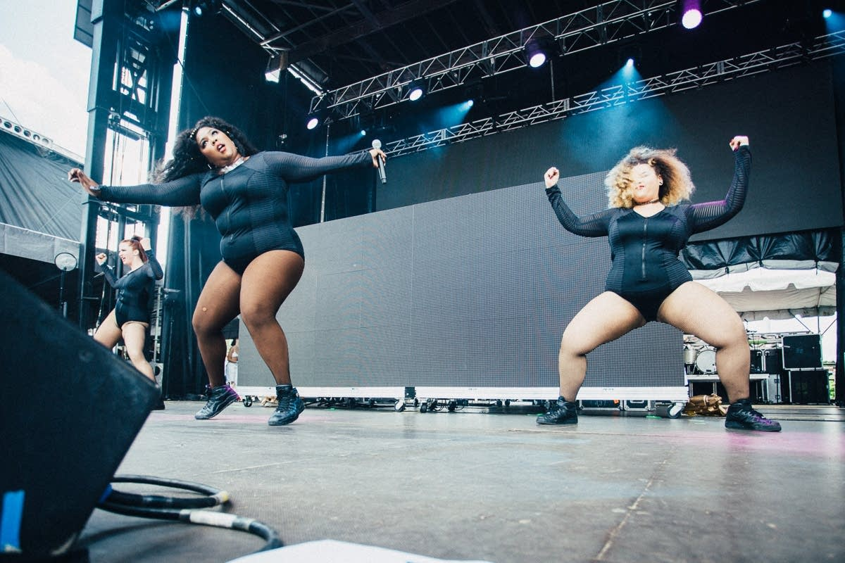 Lizzo and her Big Grrrls at Soundset 2016