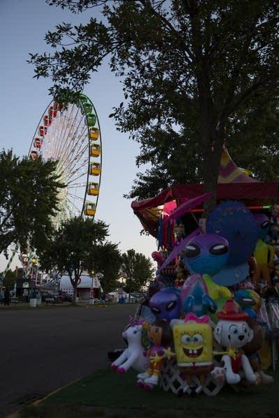 A ferris wheel and fair prizes.