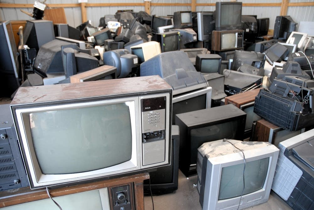 Trashed televisions