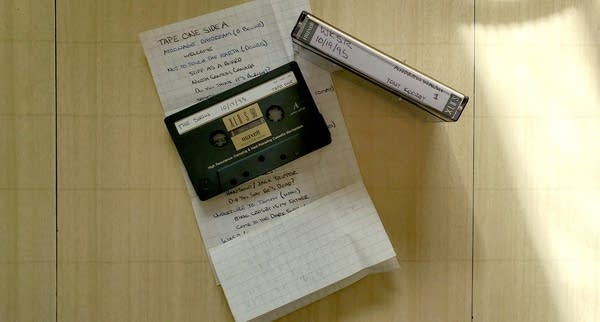Photo of cassette tape and track listing that says WKSR 10/19/1995