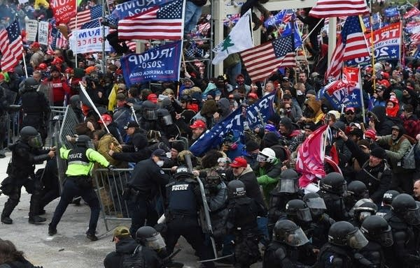 A mob storms the U.S. Capitol.