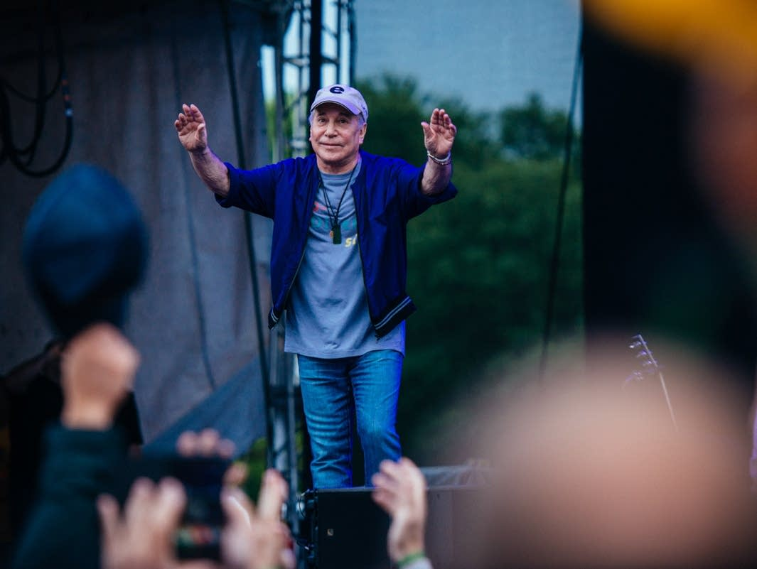 Paul Simon performs at Eaux Claires in 2017.