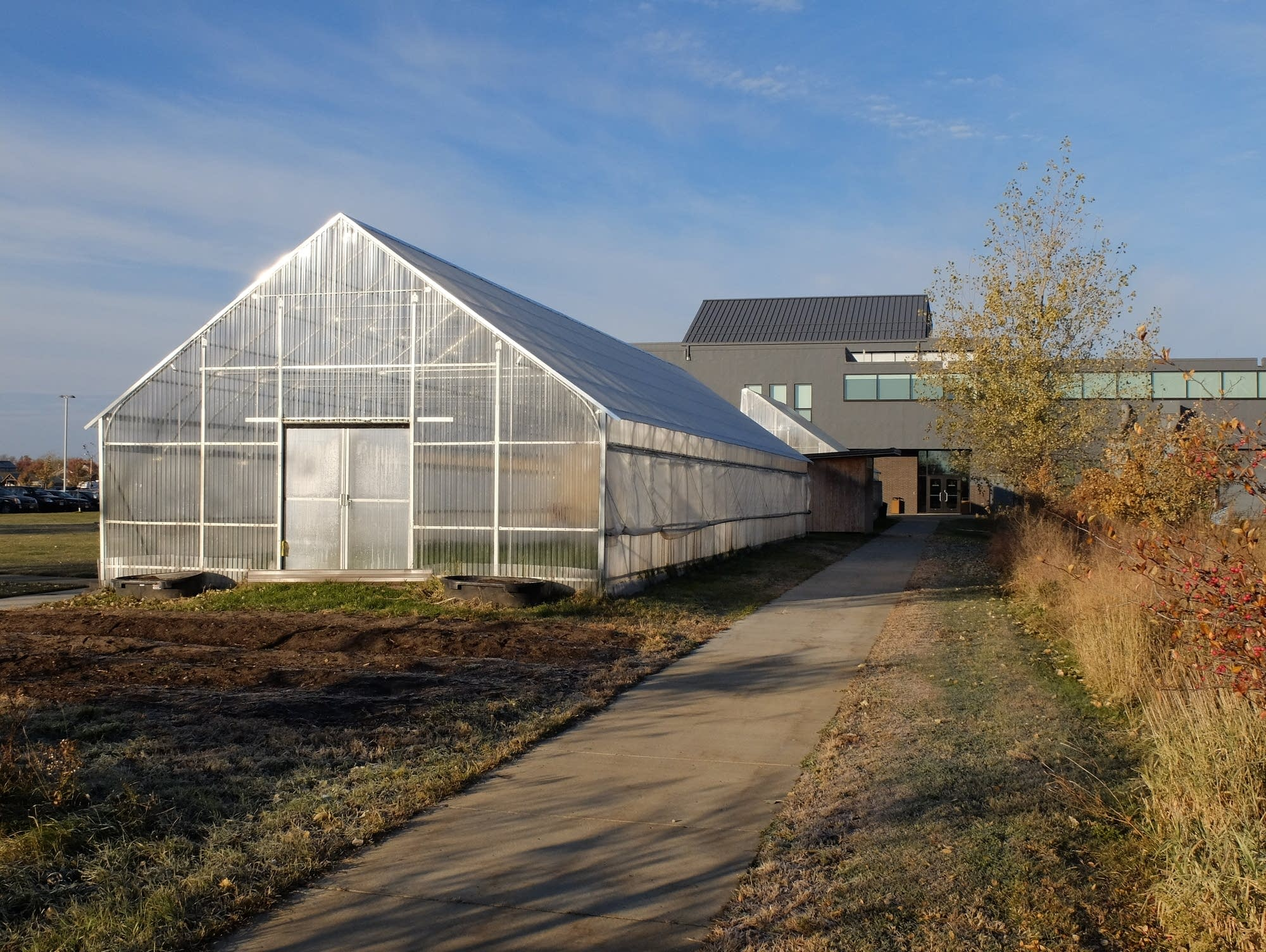 Wadena Deer Creek schools use two greenhouses to grow vegetables.