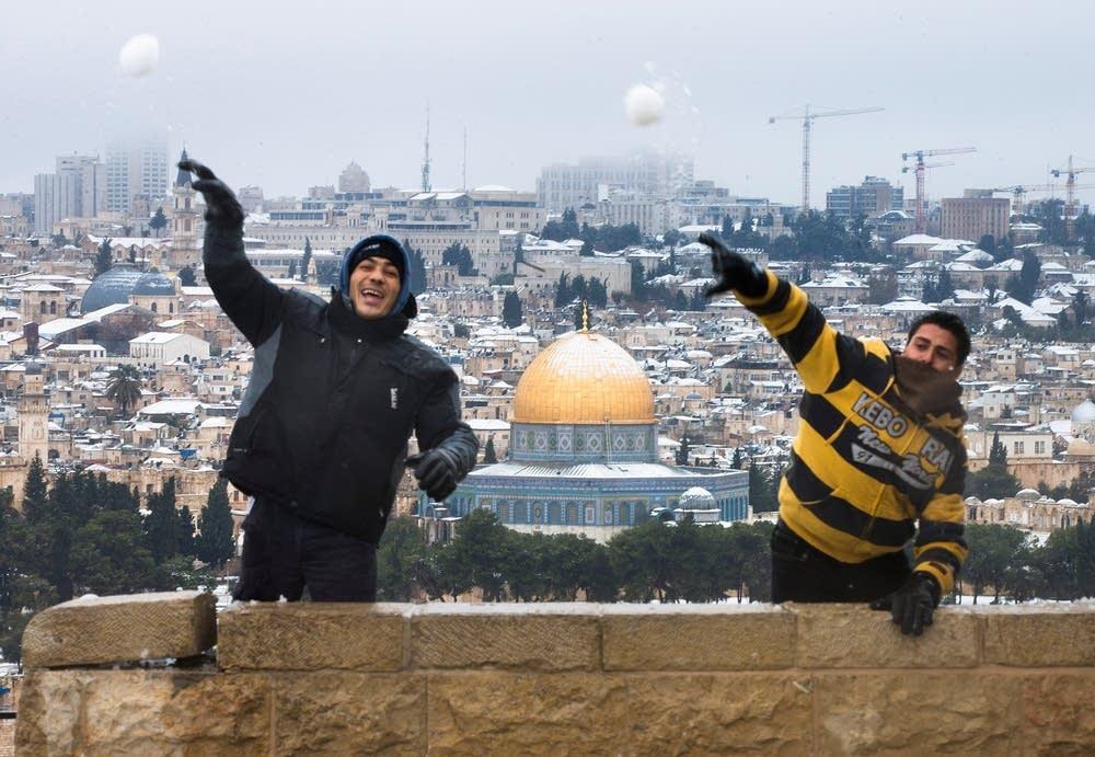 Snow Storms Blanket Jerusalem