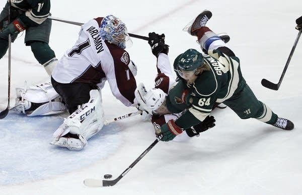 Mikael Granlund, Erik Johnson, Semyon Varlamov