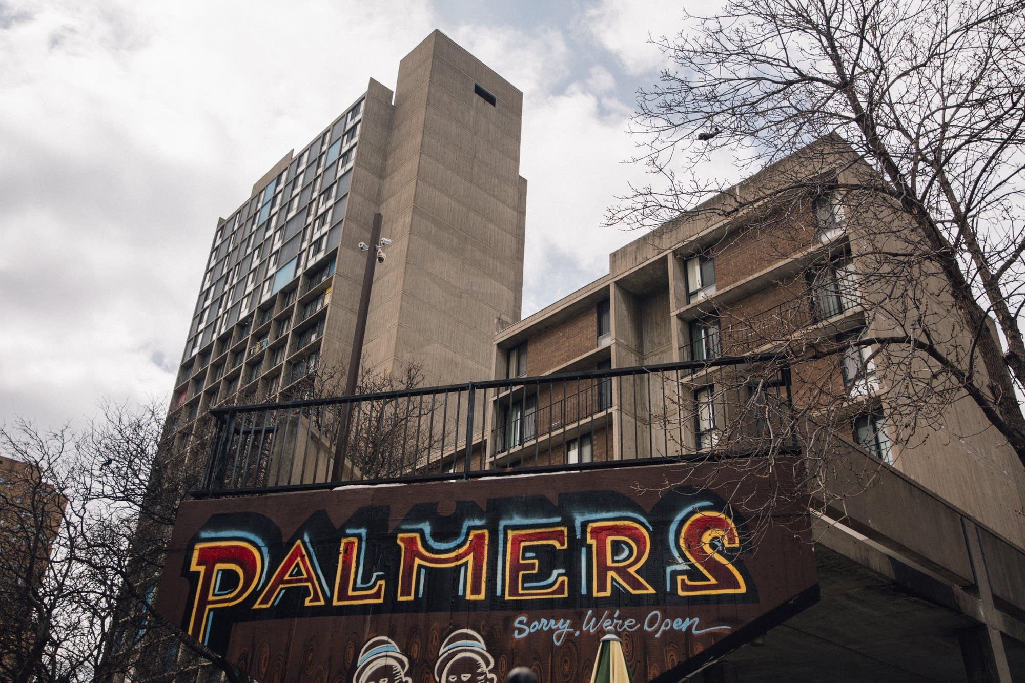 Outside Minneapolis' Palmer's Bar.