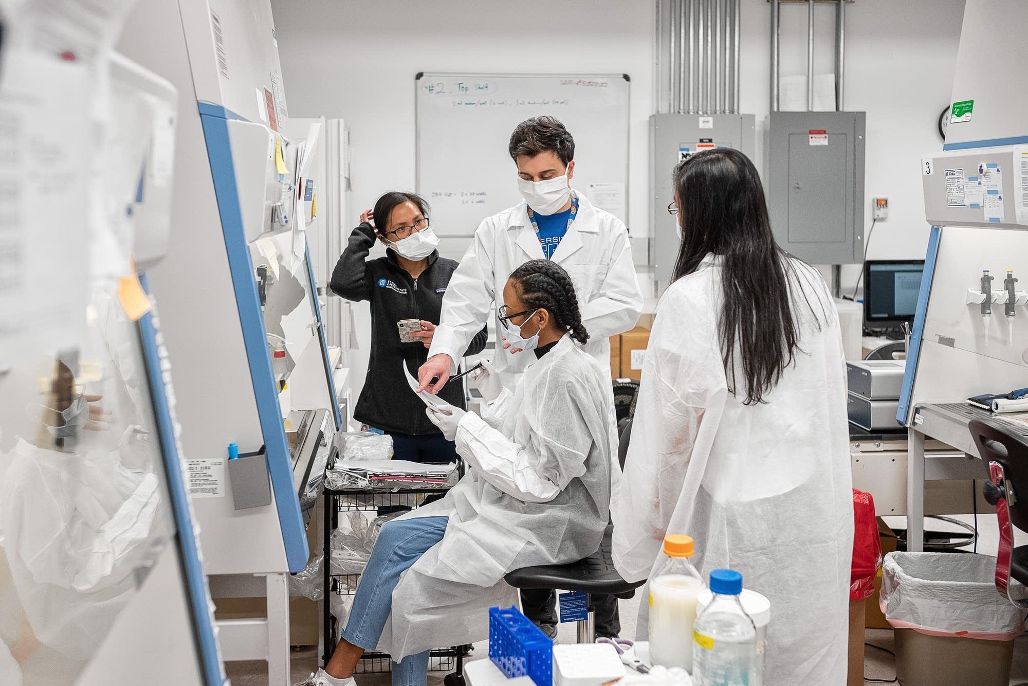 Lab scientists work to validate rapid antibody tests of Covid-19 samples