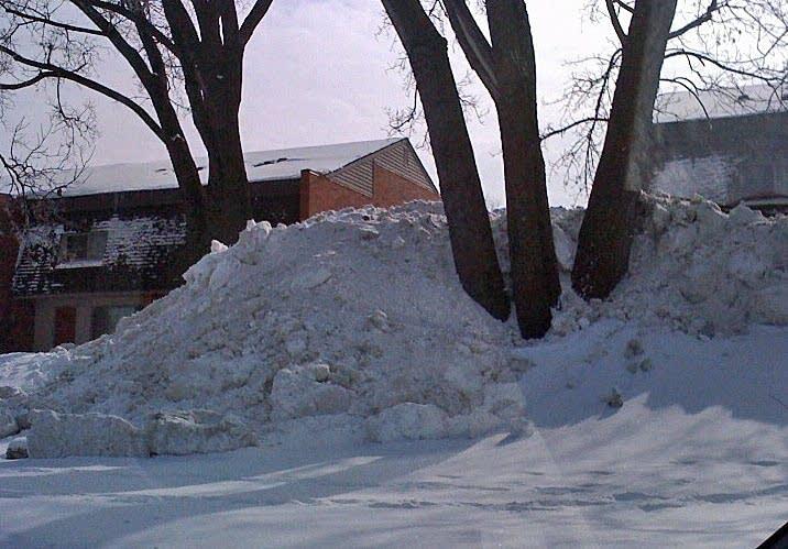 Big pile of snow