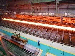 A steel mill in Tangshan, China's Hebei province.