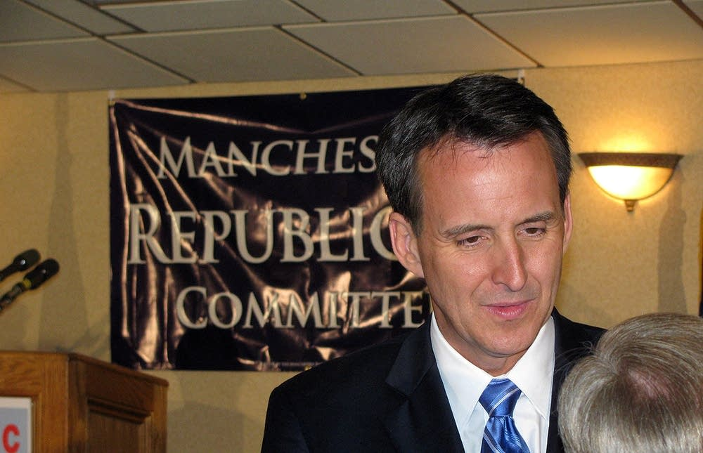 Pawlenty receives warm welcome from Manchester GOP | MPR News