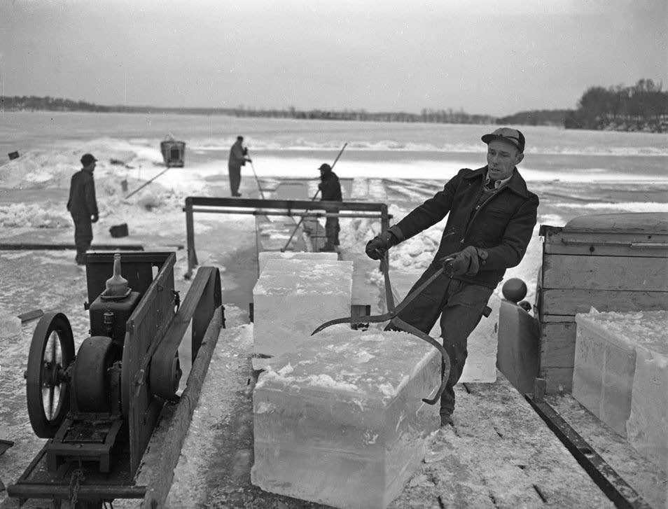 Lake Minnetonka ice harvesting