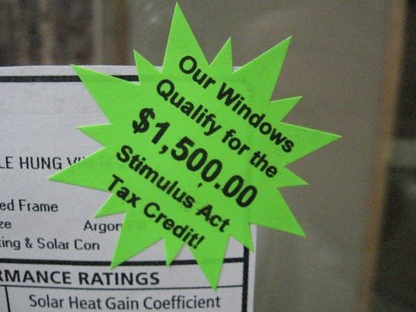Rebate sticker