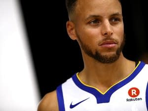 Stephen Curry #30 of the Golden State Warriors poses for a portrait