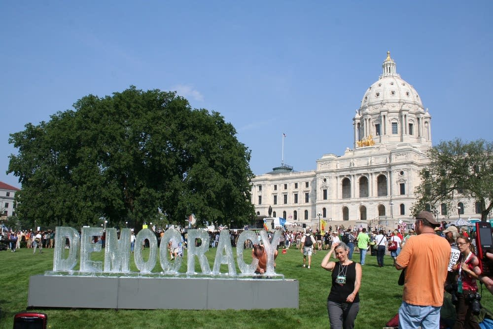 Democracy sculpture