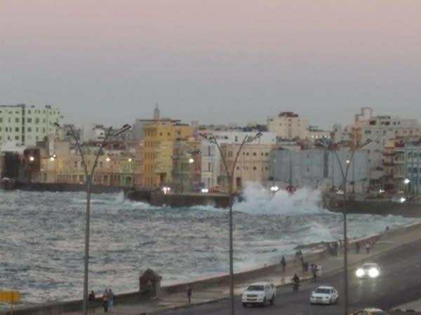 The coastline in Havana, Cuba.