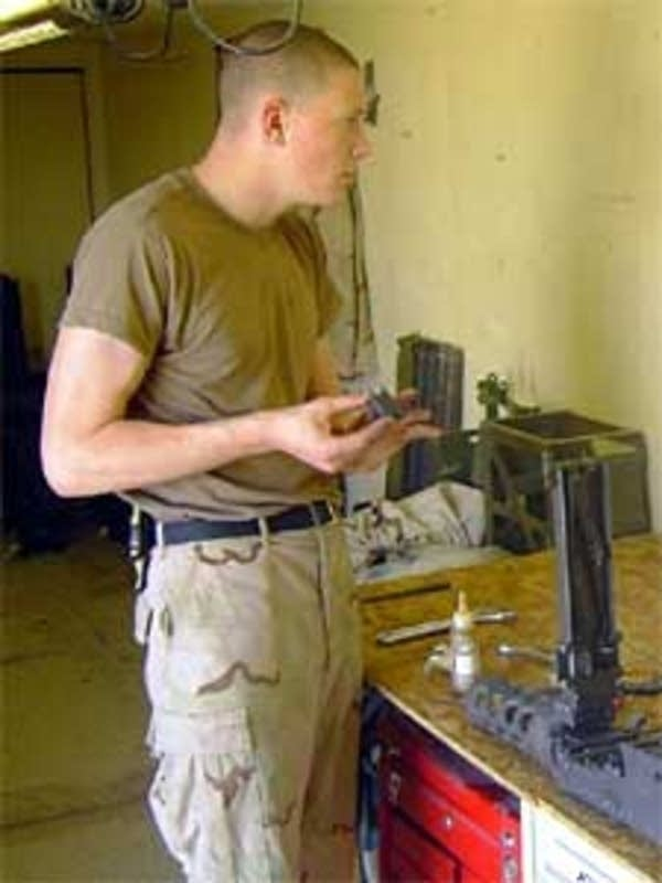 Tyler Bendel in Iraq