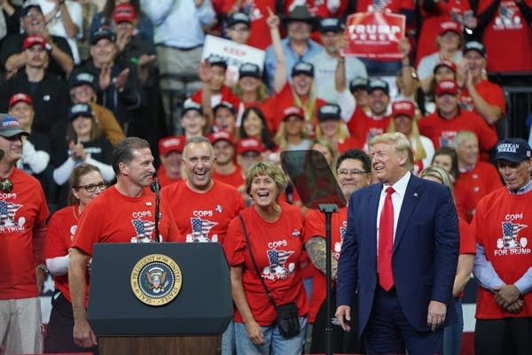 President Trump, at a campaign rally