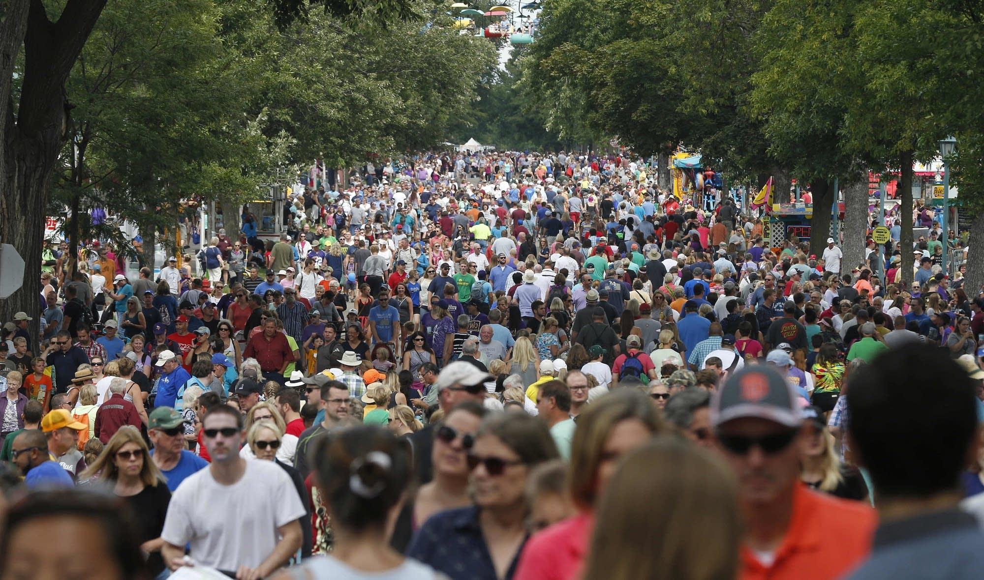 State Fair crowds