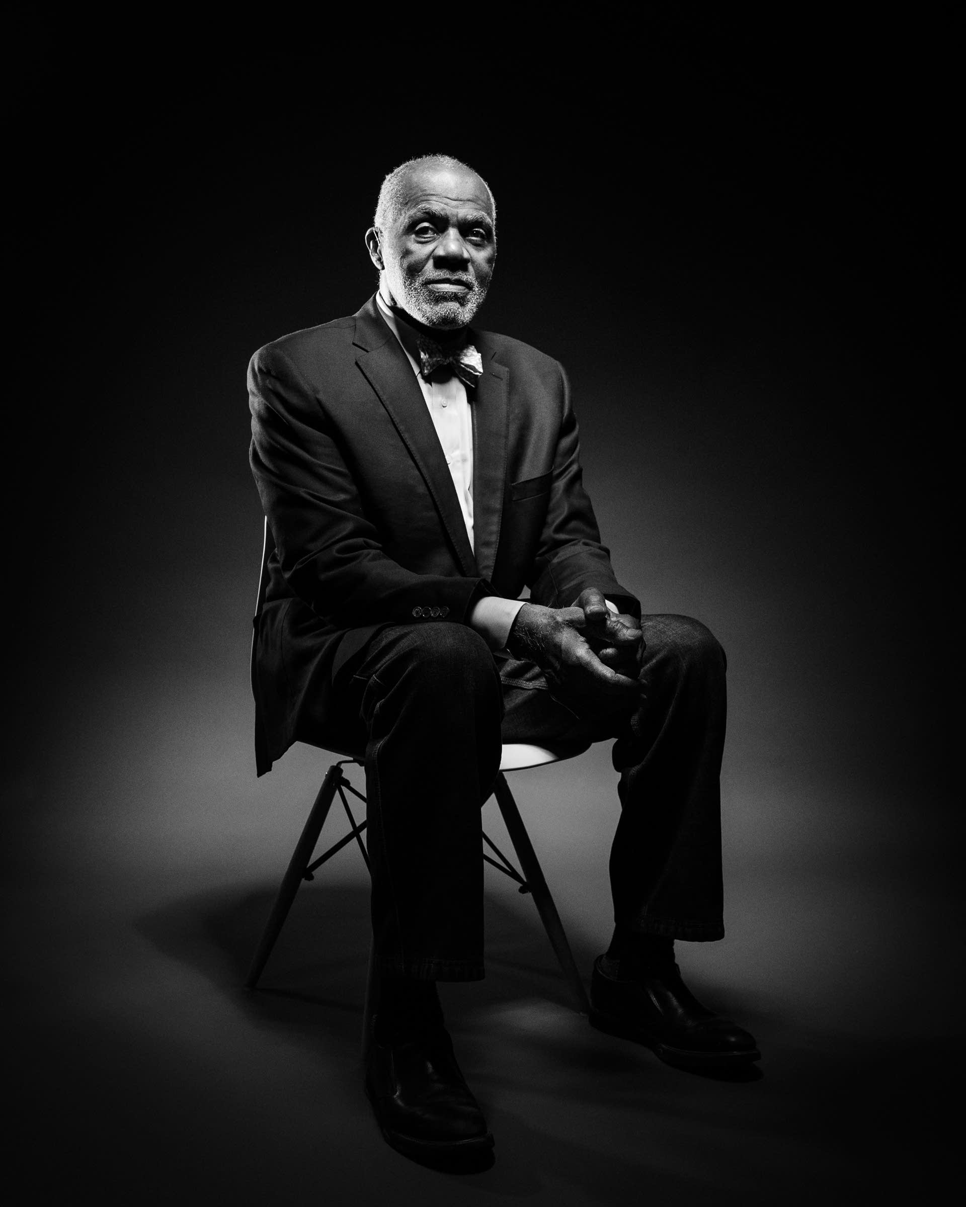 Retired Minnesota Supreme Court Justice Alan Page sits for a portrait.