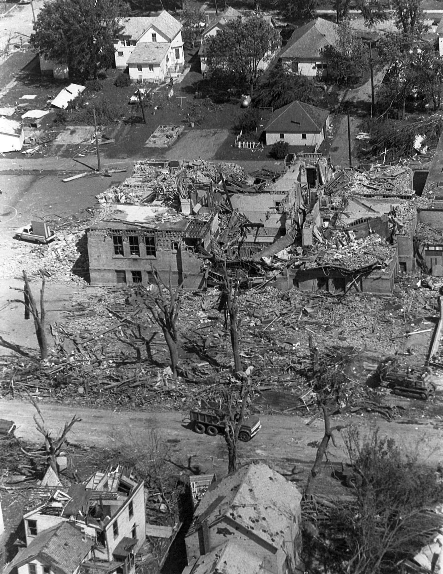 On June 13, 1968, a tornado struck Tracy, Minn.