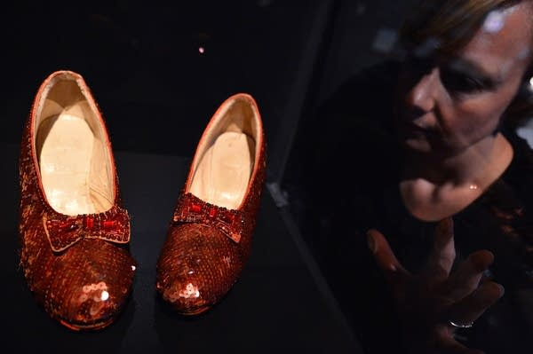 Ruby slippers at a London museum