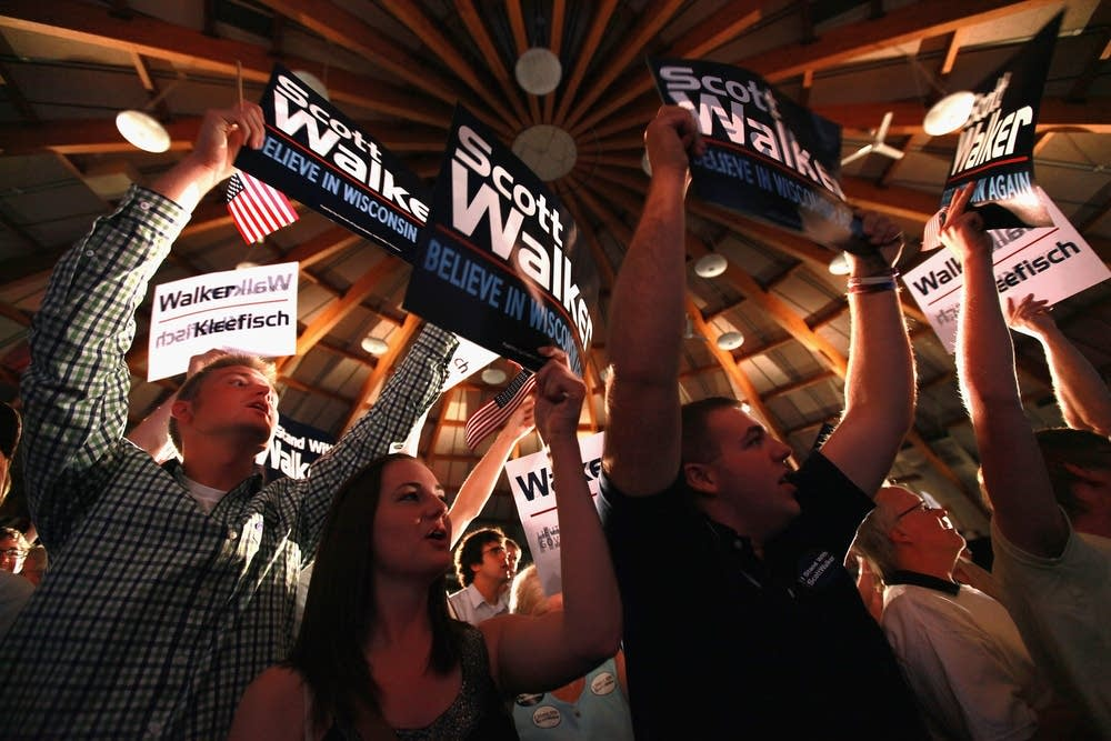 Walker supporters on election night