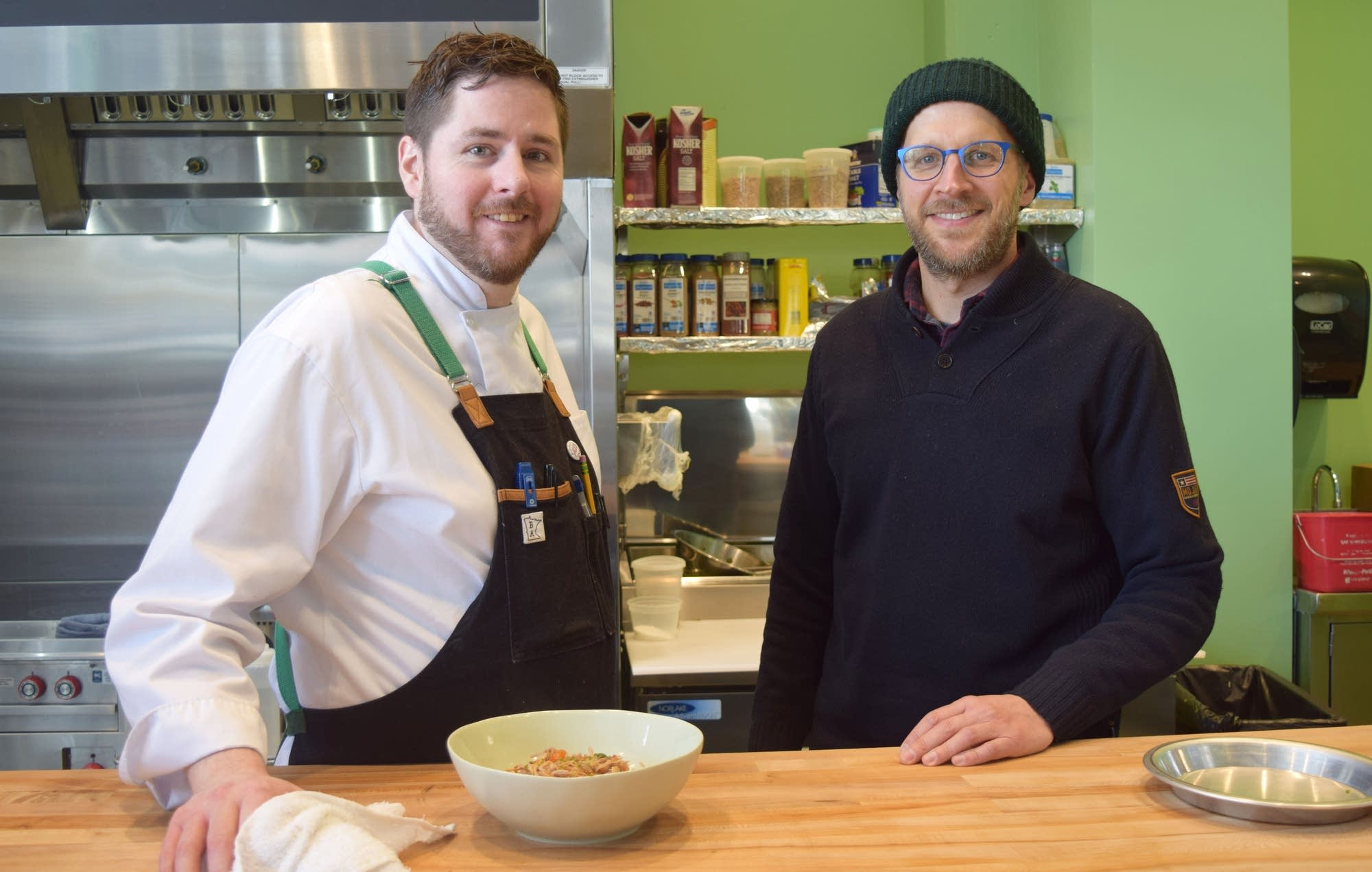 Chef Brandon Adams and Culinary and Sustainability Director Paul Berglund.