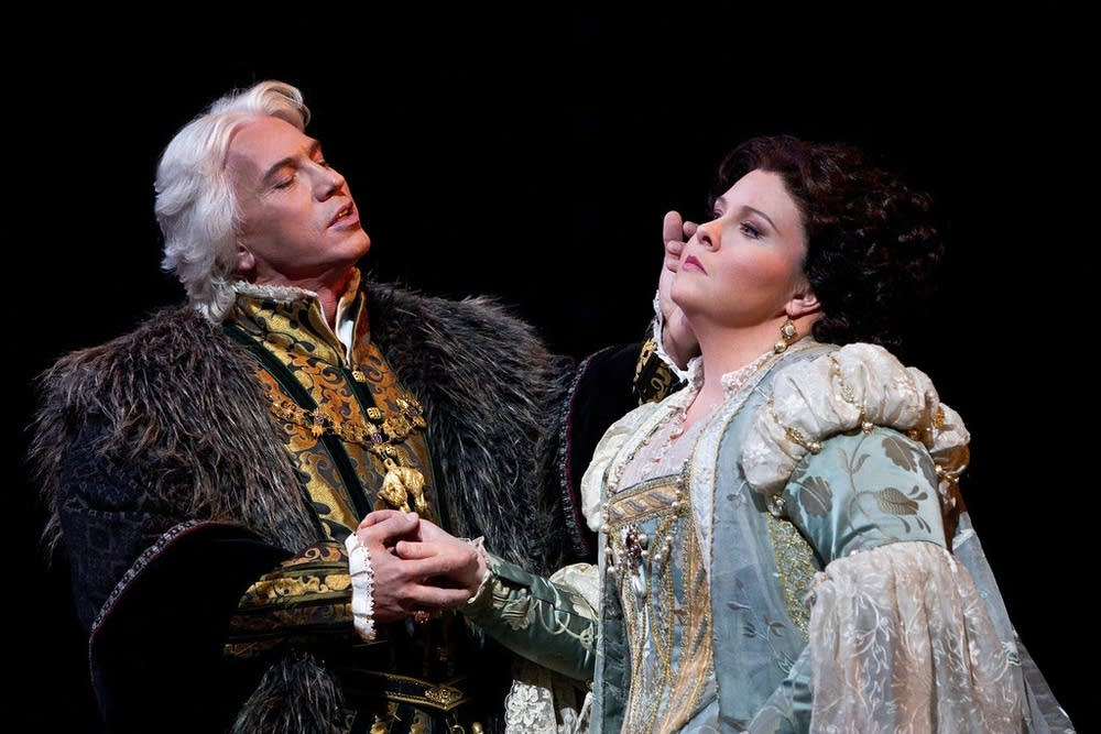 Hvorostovsky as Don Carlo and Meade as Elvira