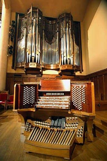 1954 Aeolian-Skinner; 2003 Garland organ at First United Methodist Church in Wichita Falls, TX