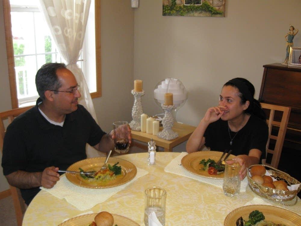 Mehran and his daughter