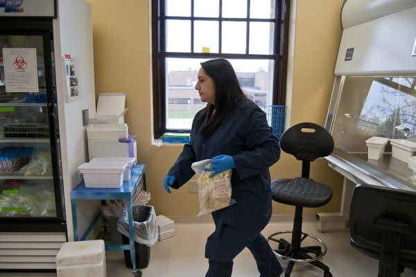 Assistant scientist Jeannette Munoz