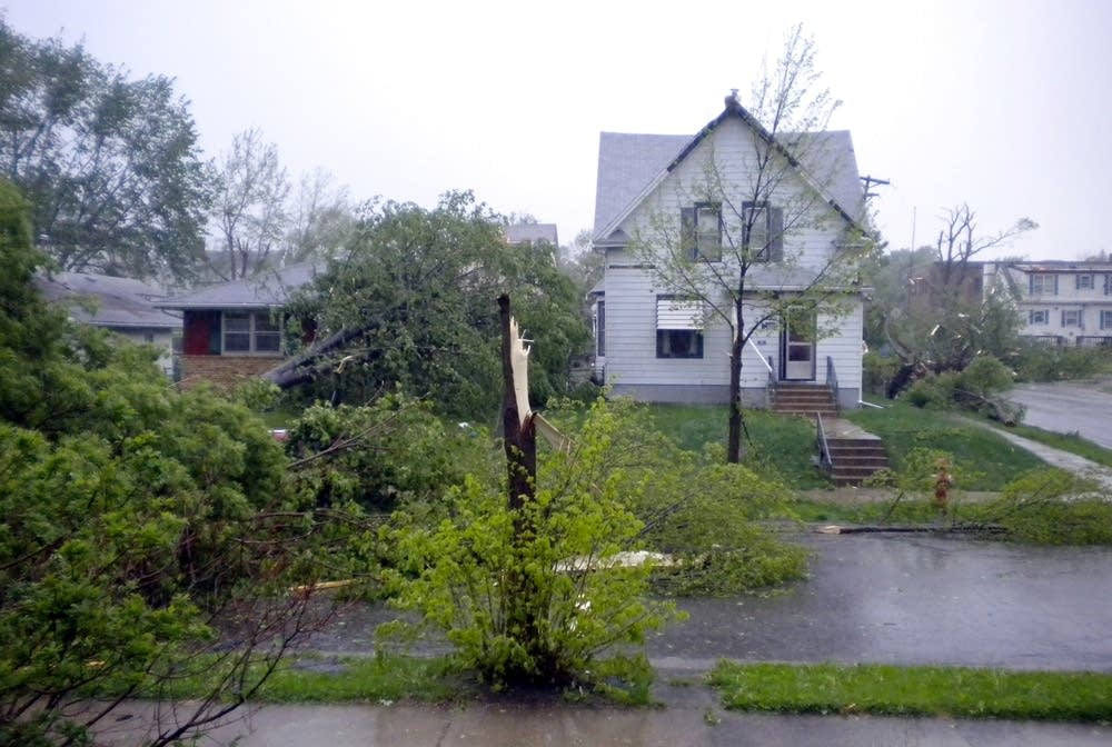 North Minneapolis tornado damage