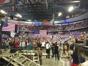 Amsoil Arena was filling up with Trump fans.