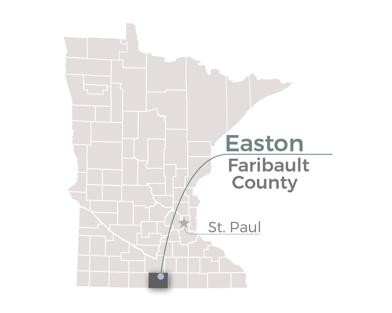 Easton, Minn. in Faribault County