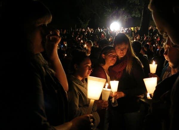 Candlelight vigil at Stewart Park