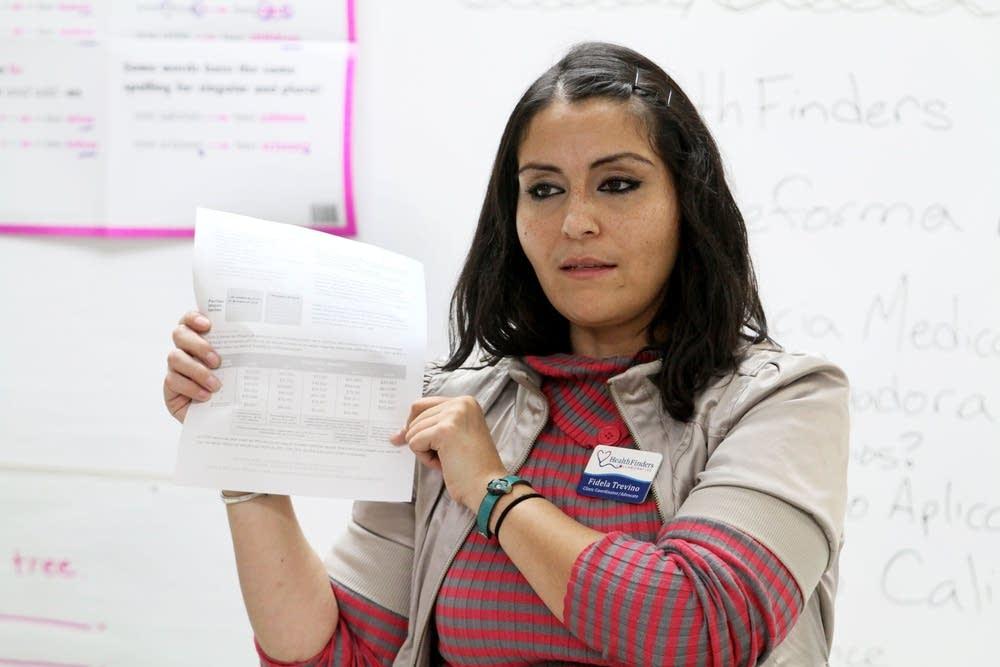 Fidela Trevino, a clinic coordinator