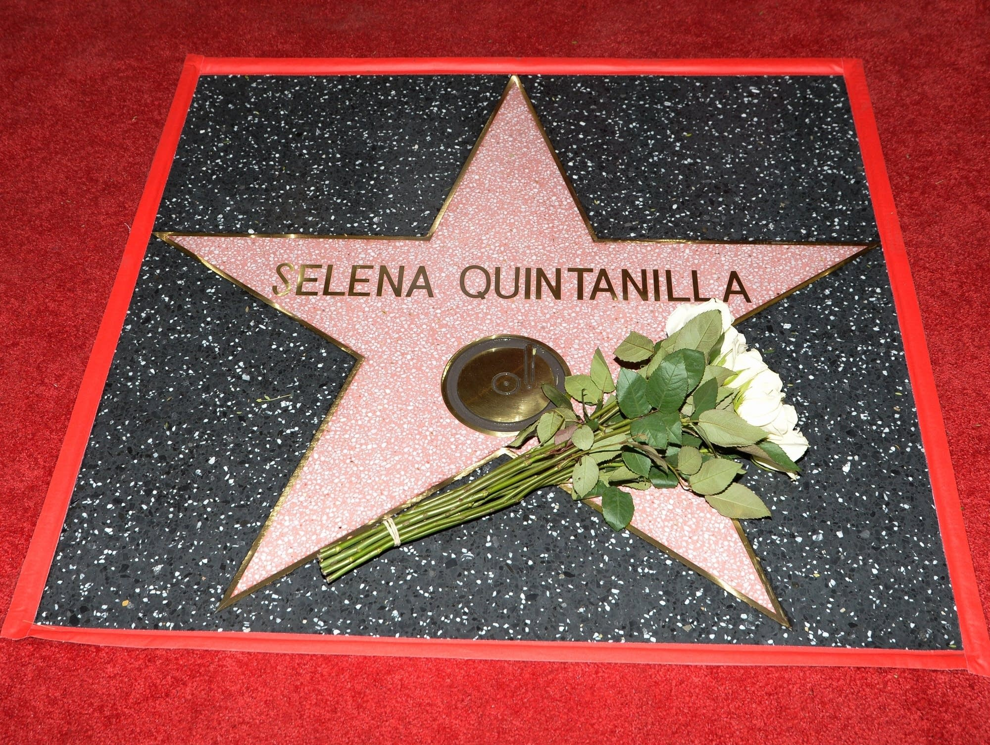 Selena's star on the Hollywood Walk of Fame.