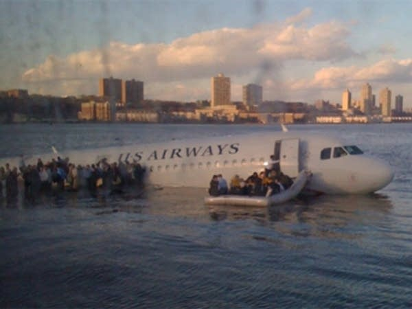 A US Airways plane crashed in the Hudson River